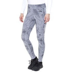 The North Face Pulse Tights Women Mid Grey Botanical Lines Print